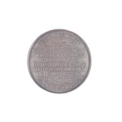 เหรียญที่ระลึกในการสร้างสะพานพระพุทธยอดฟ้าของบริษัท ดอร์แมน ลอง (ด้านหลัง)
